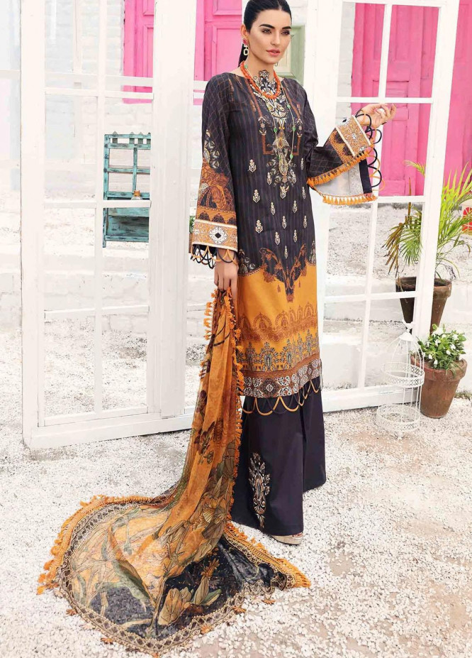 Rhea By Shurooq Embroidered Lawn Suits Unstitched 3 Piece SHQ21R 03 Mellonia - Summer Collection
