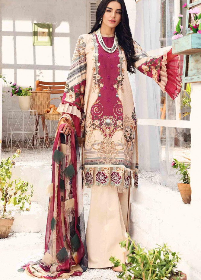 Rhea By Shurooq Embroidered Lawn Suits Unstitched 3 Piece SHQ21R 04 Sahara - Summer Collection