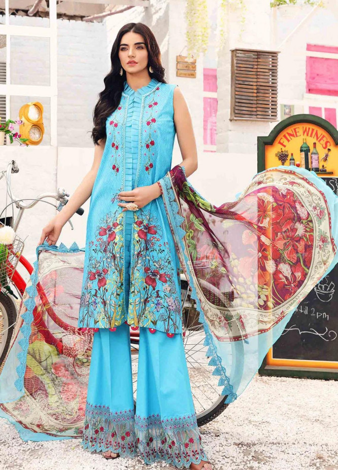 Rhea By Shurooq Embroidered Lawn Suits Unstitched 3 Piece SHQ21R 07 Mariana - Summer Collection