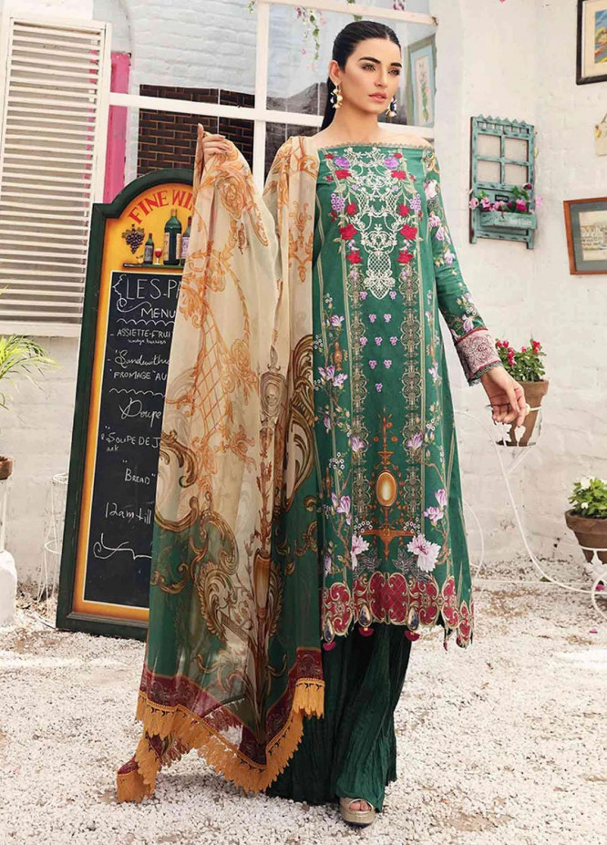 Rhea By Shurooq Embroidered Lawn Suits Unstitched 3 Piece SHQ21R 11 Olivine - Summer Collection