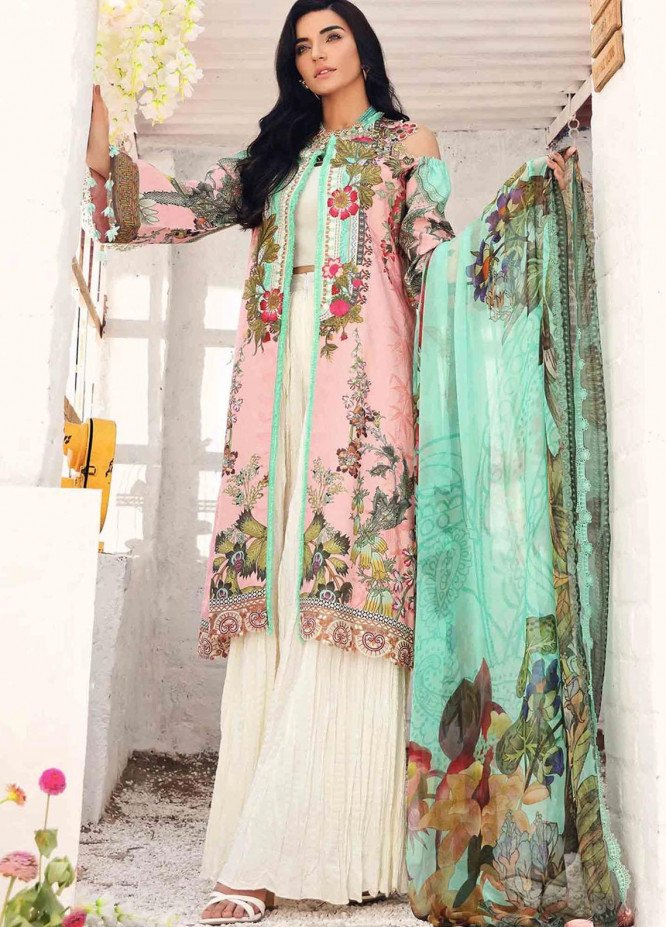 Rhea By Shurooq Embroidered Lawn Suits Unstitched 3 Piece SHQ21R 12 Salome - Summer Collection