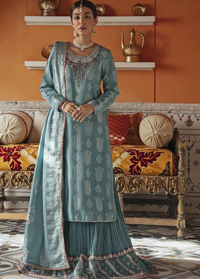 Rim Jhim by Cross Stitch Embroidered Cotton Jacquard Suits Unstitched 3 Piece CS21RJ MAAH ROO-A - Luxury Collection