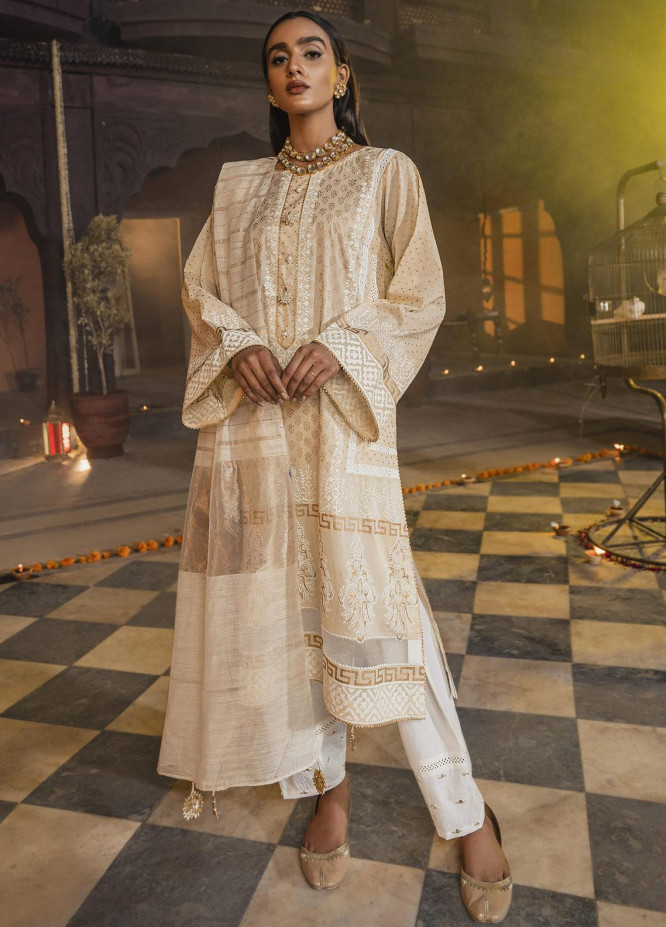 Riwaj by Nuriyaa Embroidered Lawn Suits Unstitched 3 Piece NR21R NOOR-E-SHEESH   - Luxury Collection