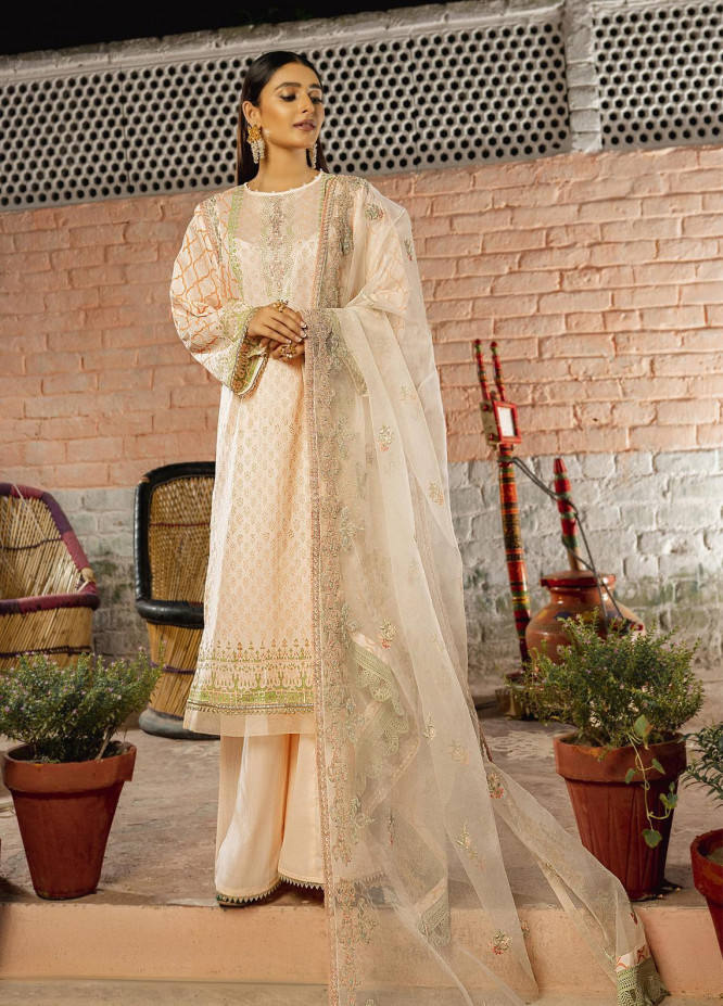 Riwaj by Nuriyaa Embroidered Lawn Suits Unstitched 3 Piece NR21R RAAH-E-FEROZ - Luxury Collection