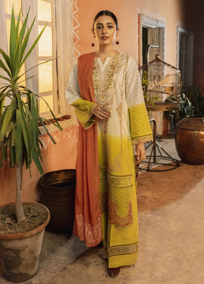 Riwaj by Nuriyaa Embroidered Lawn Suits Unstitched 3 Piece NR21R TAABIR-E-CHASHAM - Luxury Collection