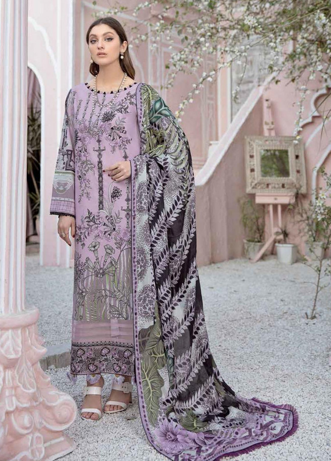 Riwayat by Ramsha Embroidered Lawn Suits Unstitched 3 Piece RSH21R 103 - Luxury Collection