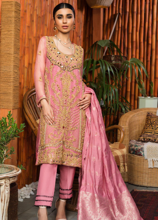 Rizwan Ahmed by Zohan Textiles Embroidered Organza Unstitched 3 Piece Suit ZT20RA D-04 - Festive Collection
