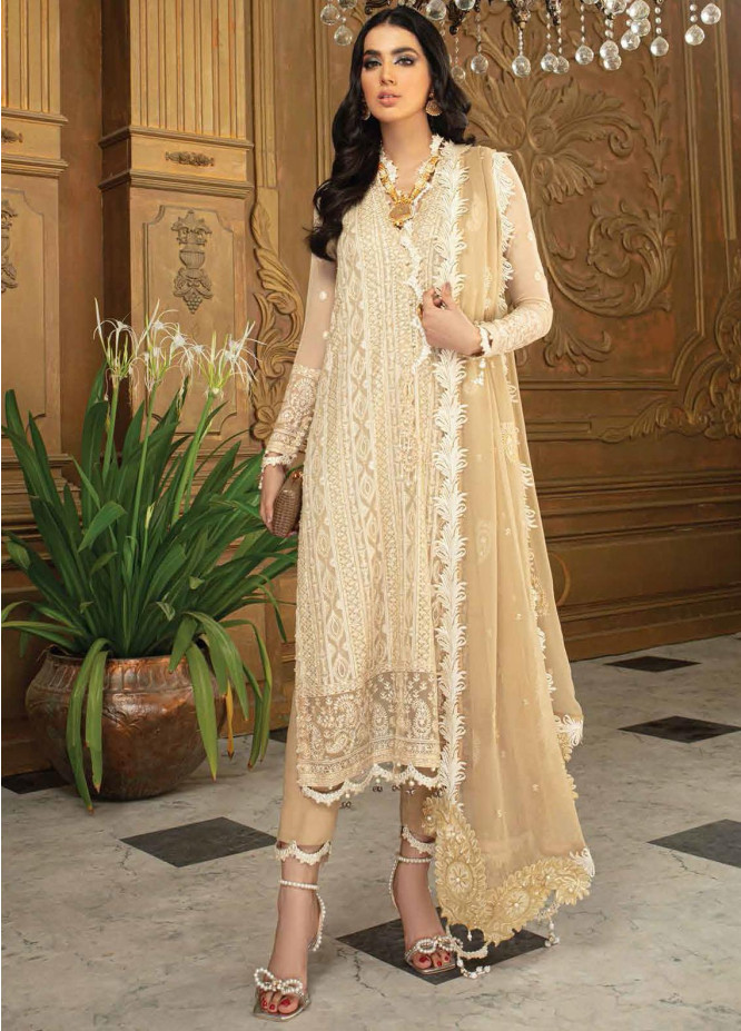 Roheenaz Embroidered Chiffon Suits Unstitched 3 Piece RO21C 04 - Luxury Collection