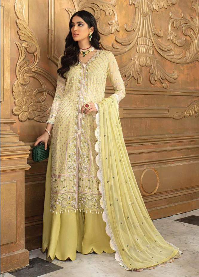 Roheenaz Embroidered Chiffon Suits Unstitched 3 Piece RO21C 05 - Luxury Collection