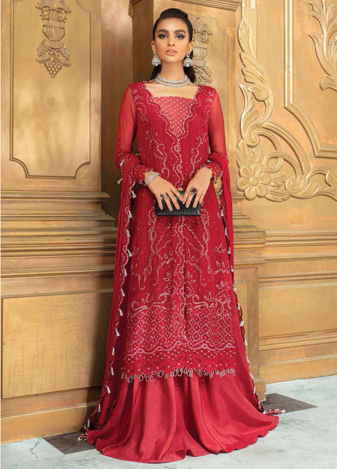 Roheenaz Embroidered Chiffon Suits Unstitched 3 Piece RO21C 06 - Luxury Collection