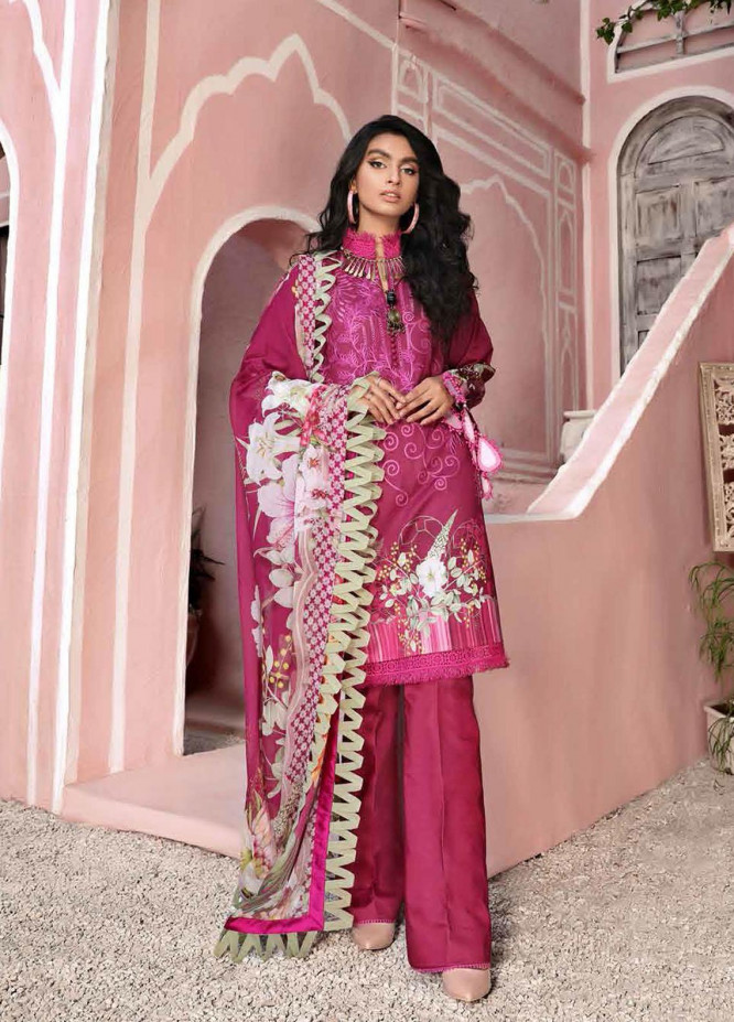 Roheenaz Embroidered Lawn Suits Unstitched 3 Piece RO21S 2A - Summer Collection