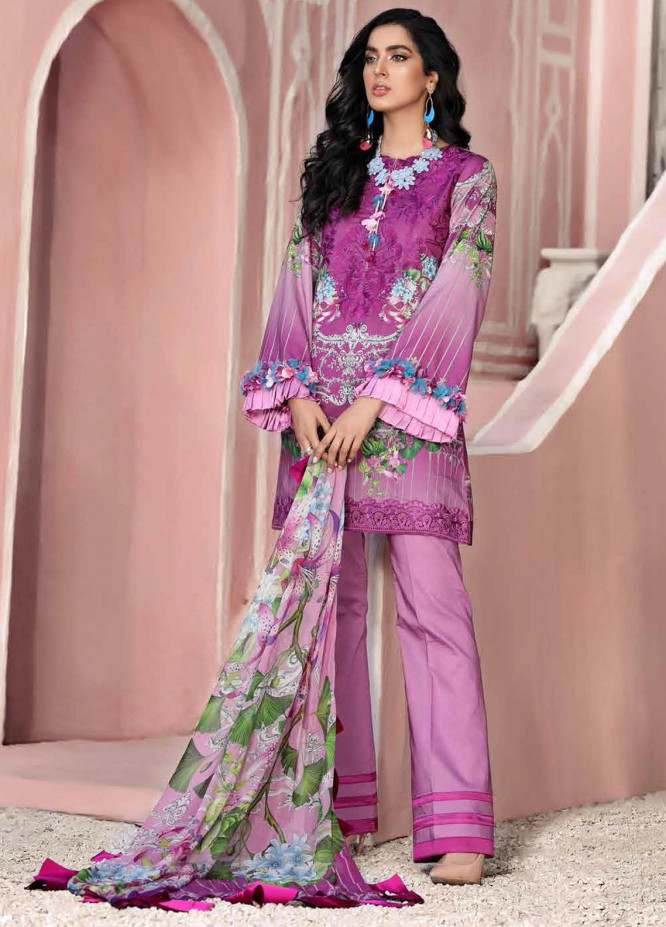 Roheenaz Embroidered Lawn Suits Unstitched 3 Piece RO21S 3A - Summer Collection