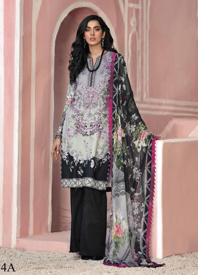 Roheenaz Embroidered Lawn Suits Unstitched 3 Piece RO21S 4A - Summer Collection