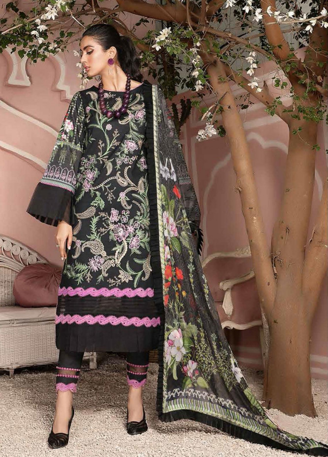 Roheenaz Embroidered Lawn Suits Unstitched 3 Piece RO21S 6A - Summer Collection