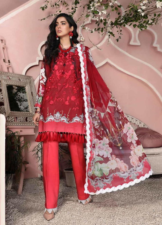Roheenaz Embroidered Lawn Suits Unstitched 3 Piece RO21S 7B - Summer Collection