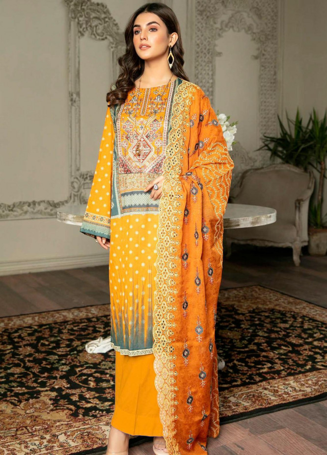 Rubab by Zebaish Embroidered Lawn Suits Unstitched 3 Piece ZSH21RB D-01 - Summer Collection