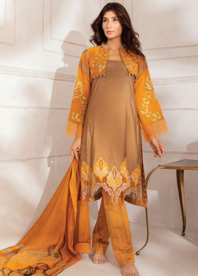 Runa Laila by Rub Nawaz Embroidered Cotton Unstitched 3 Piece Suit RN20RL 02 - Winter Collection