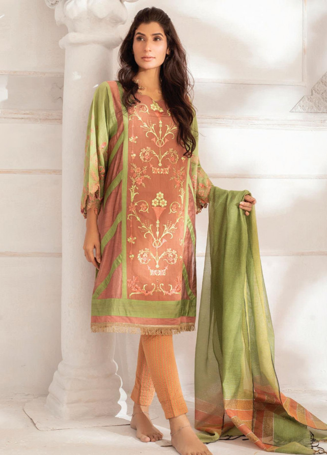 Runa Laila by Rub Nawaz Embroidered Cotton Unstitched 3 Piece Suit RN20RL 05 - Winter Collection