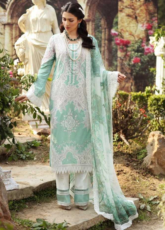 Sable Vogue By Ittehad Textiles Embroidered Lawn Suits Unstitched 3 Piece ITD21SV 05-ANYA - Luxury Collection