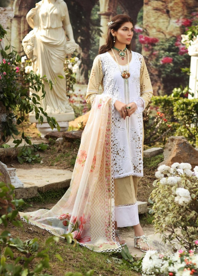 Sable Vogue By Ittehad Textiles Embroidered Lawn Suits Unstitched 3 Piece ITD21SV 08-SAUANNAH SERENITY - Luxury Collection