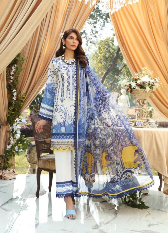 Sable Vogue By Ittehad Textiles Embroidered Lawn Suits Unstitched 3 Piece ITD21SV 10-RIA - Luxury Collection