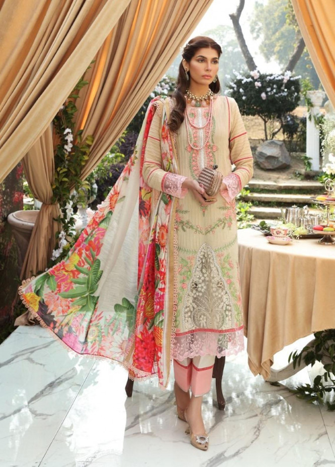 Sable Vogue By Ittehad Textiles Embroidered Lawn Suits Unstitched 3 Piece ITD21SV 12-AMELIA - Luxury Collection