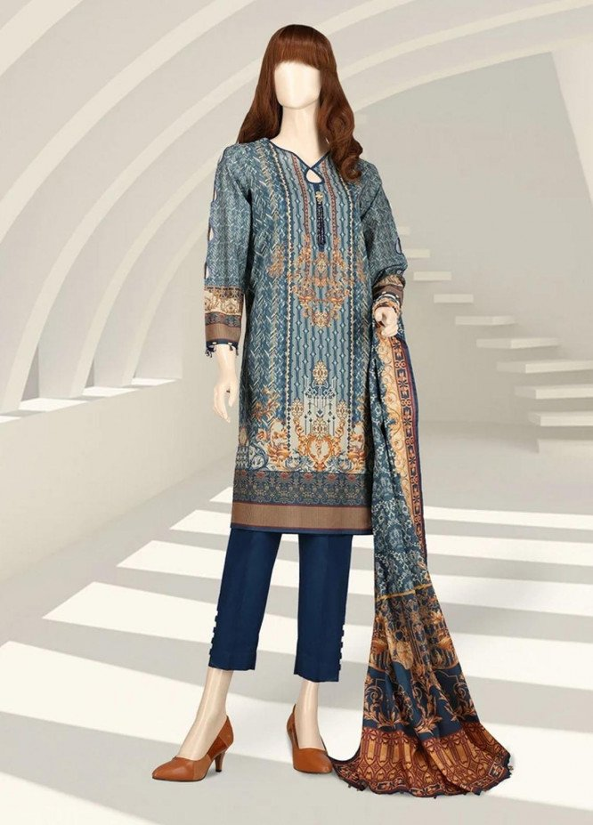 Saffron By Saya Printed Lawn Suits Unstitched 2 Piece SY21S CAUGHT IN THE MOMENT UG-2105-2A - Summer Collection