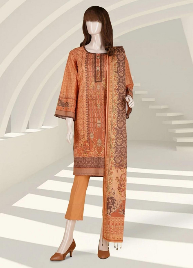 Saffron By Saya Printed Lawn Suits Unstitched 2 Piece SY21S CAUGHT IN THE MOMENT UO-2105-2B - Summer Collection