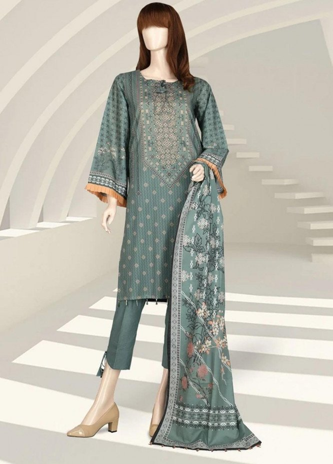 Saffron By Saya Printed Lawn Suits Unstitched 2 Piece SY21S MIRAGE UG-2105-5B - Summer Collection