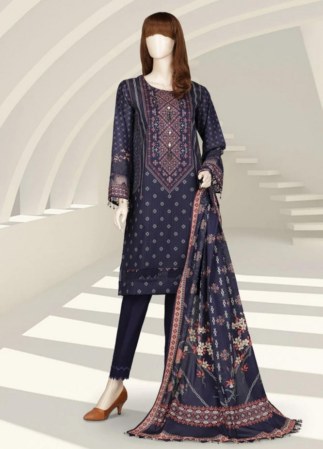 Saffron By Saya Printed Lawn Suits Unstitched 2 Piece SY21S MIRAGE UP-2105-5A - Summer Collection