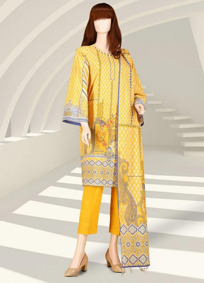 Saffron By Saya Printed Lawn Suits Unstitched 2 Piece SY21S STELLER UY-2105-7C - Summer Collection