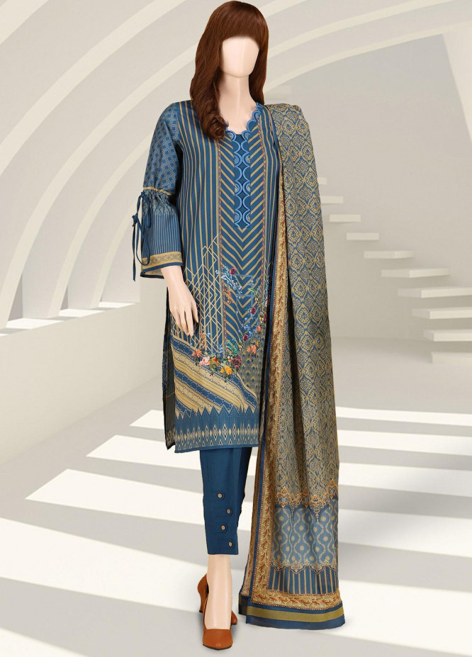 Saffron By Saya Printed Lawn Suits Unstitched 2 Piece UG-2102-05B - Summer Collection