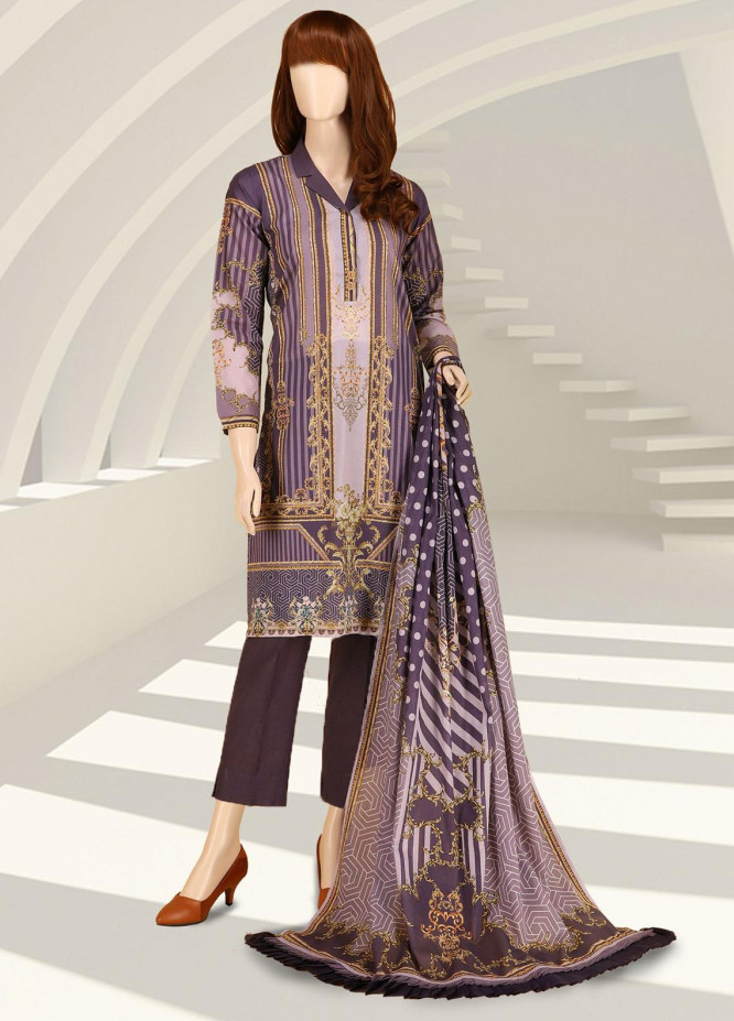 Saffron By Saya Printed Lawn Suits Unstitched 2 Piece UP-2102-03C - Summer Collection