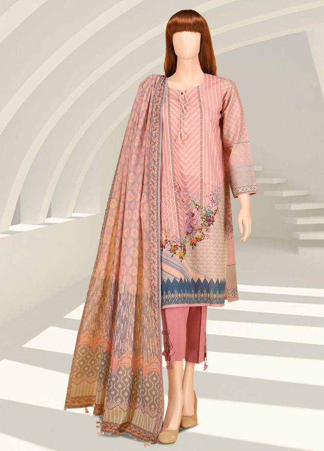 Saffron By Saya Printed Lawn Suits Unstitched 2 Piece UP-2102-05C - Summer Collection