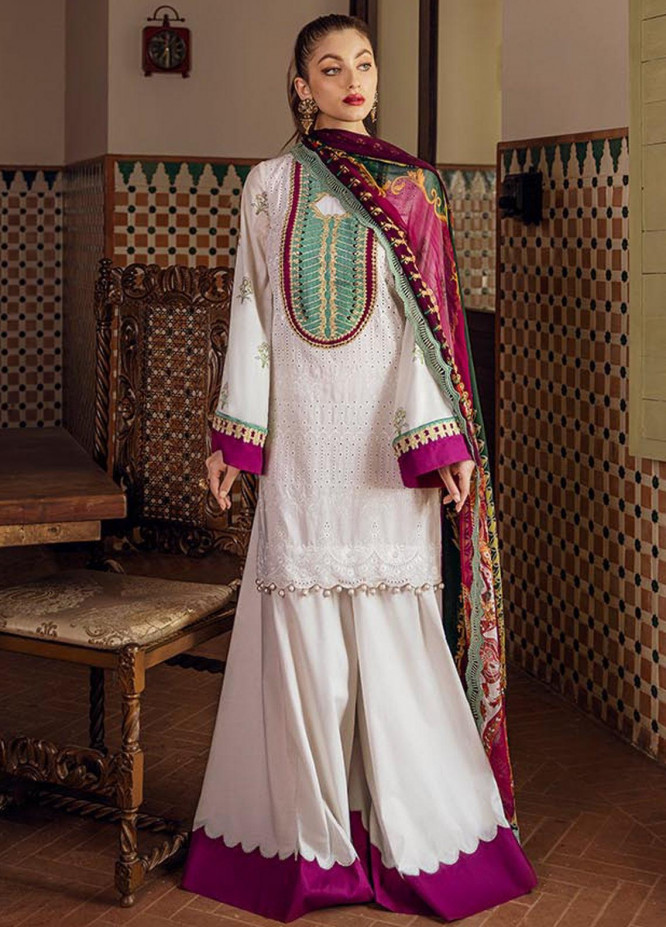 Saira Rizwan Embroidered Lawn Unstitched 3 Piece Suit SR20L-2 01 DELILAH - Spring / Summer Collection