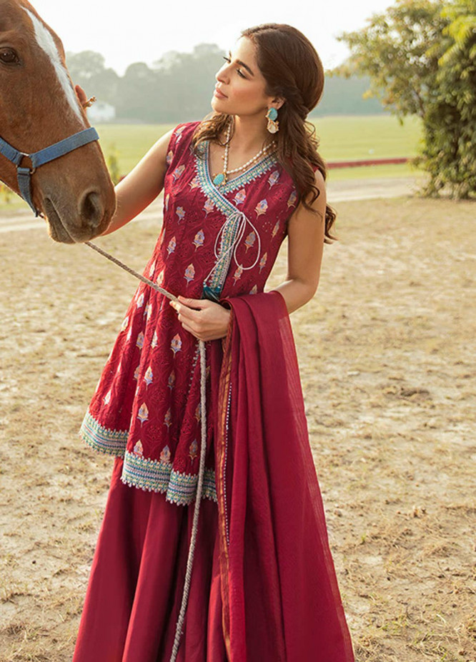 Saira Rizwan Embroidered Lawn Suits Unstitched 3 Piece SR21L 01 Mah-e-Meer - Summer Collection