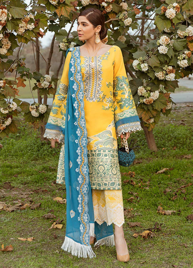 Saira Rizwan Embroidered Lawn Suits Unstitched 3 Piece SR21L 03 Sorfina - Summer Collection
