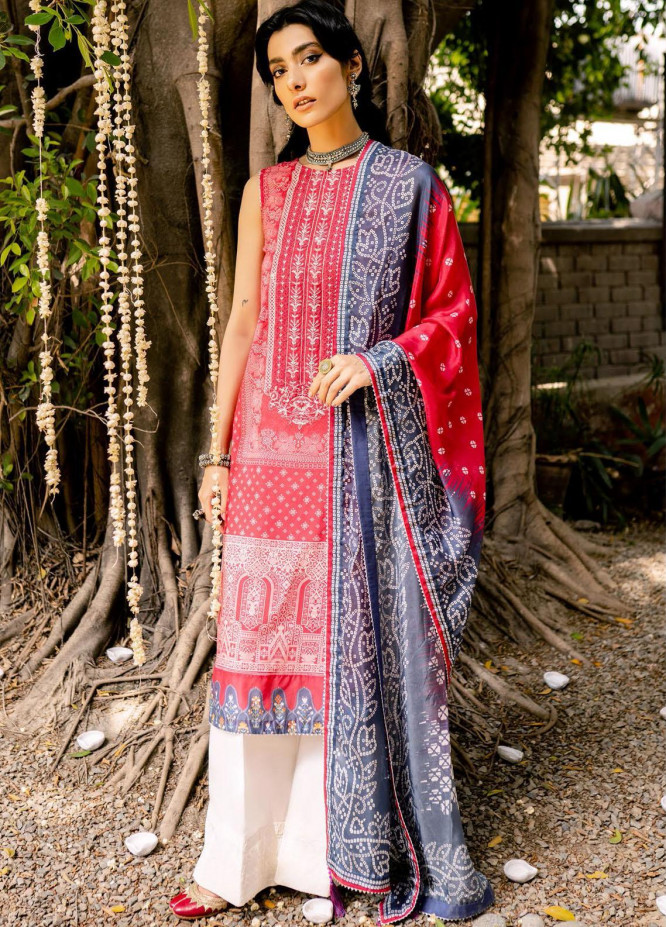 Saira Rizwan Embroidered Lawn Suits Unstitched 3 Piece SR21-E3 04 - Luxury Collection