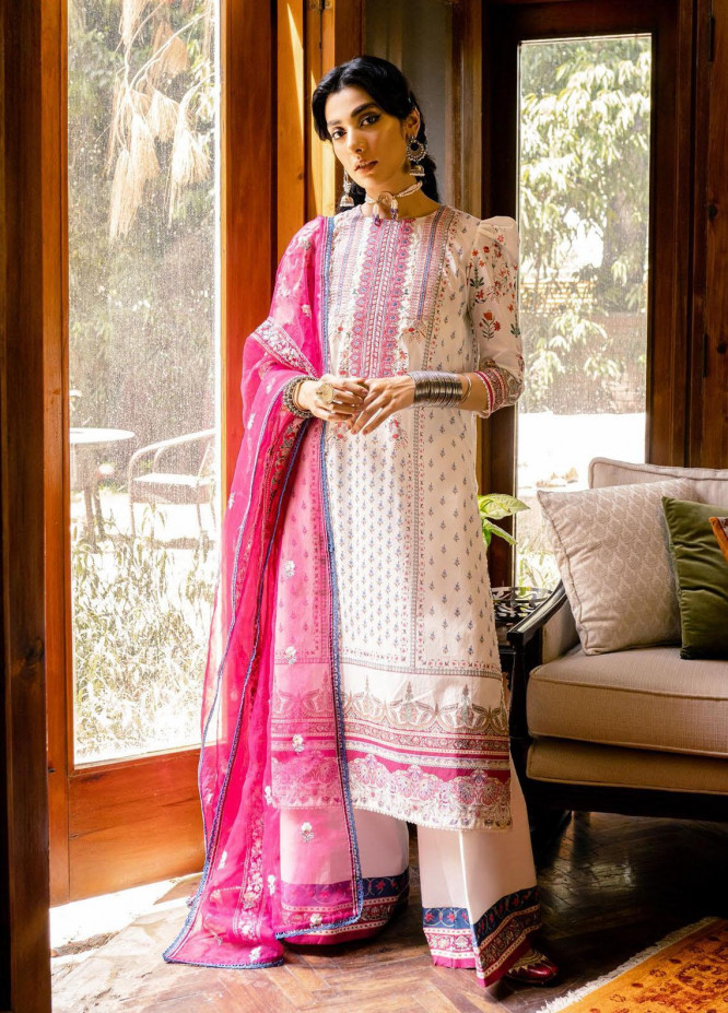 Saira Rizwan Embroidered Lawn Suits Unstitched 3 Piece SR21-E3 05 - Luxury Collection