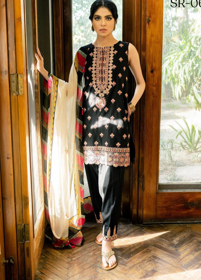 Saira Rizwan Embroidered Lawn Suits Unstitched 3 Piece SR21-E3 06 - Luxury Collection