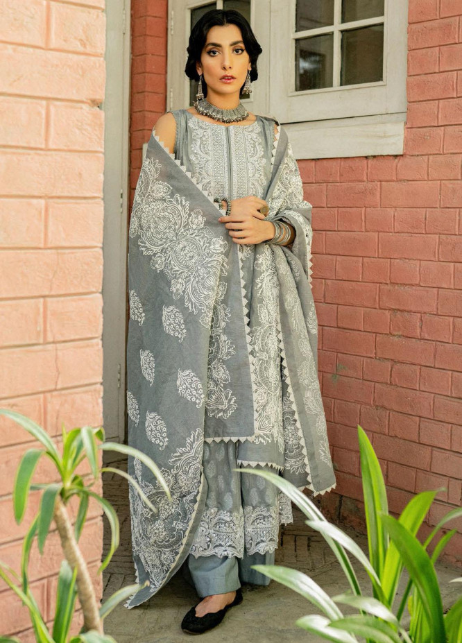 Saira Rizwan Embroidered Lawn Suits Unstitched 3 Piece SR21-E3 08 - Luxury Collection
