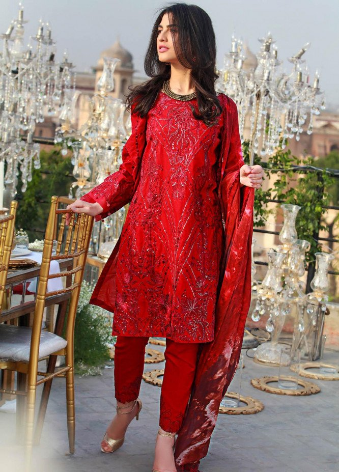 Saira Rizwan Embroidered Lawn Suits Unstitched 3 Piece SR21E 03 Kelaya - Eid Collection