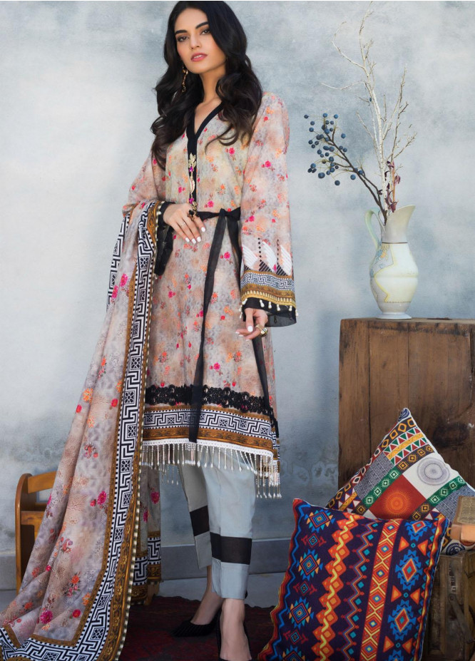 Salina by Regalia Textiles Printed Khaddar Unstitched 3 Piece Suit RGT20-KD3 01 - Winter Collection