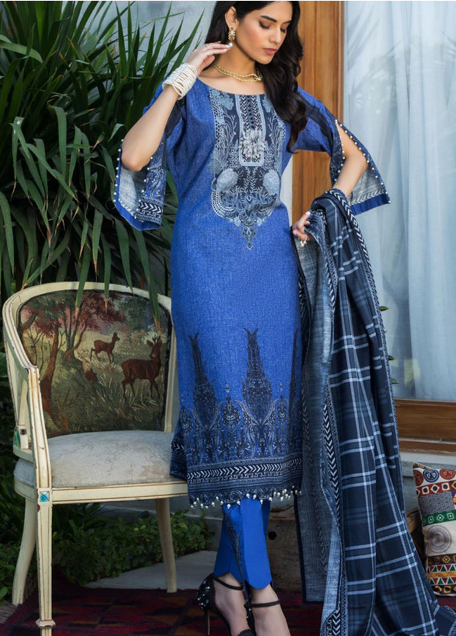 Salina by Regalia Textiles Printed Khaddar Unstitched 3 Piece Suit RGT20-KD3 03 - Winter Collection