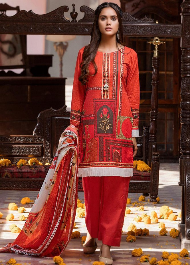 Salina by Regalia Textiles Printed Lawn Unstitched 3 Piece Suit SP20RG 03 - Summer Collection