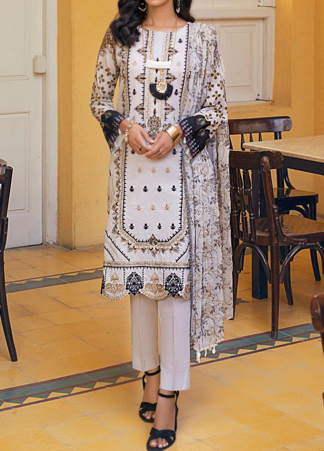 Salitex Embroidered Lawn Suits Unstitched 3 Piece ST21FT WK-00728-A - Summer Collection