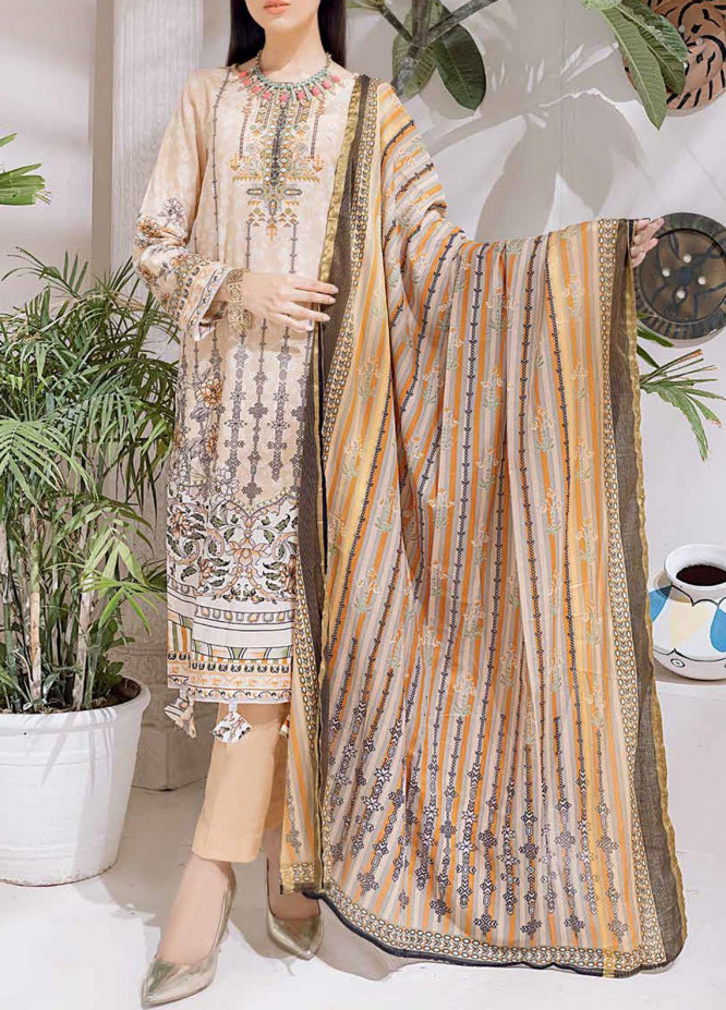 Salitex Printed Cambric Suits Unstitched 3 Piece SL21IG IP-00102A - Winter Collection