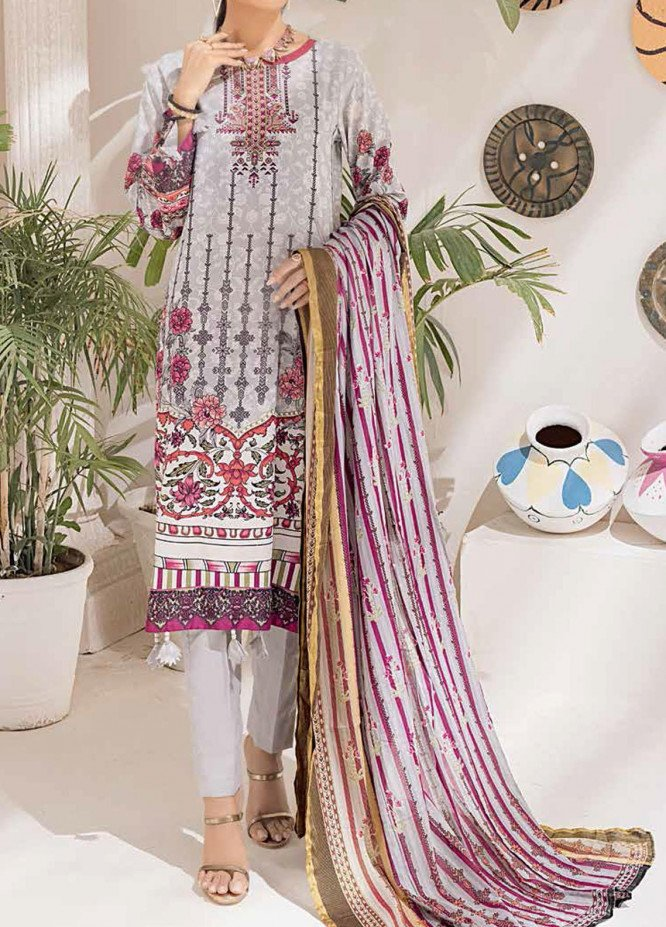 Salitex Printed Cambric Suits Unstitched 3 Piece SL21IG IP-00102B - Winter Collection