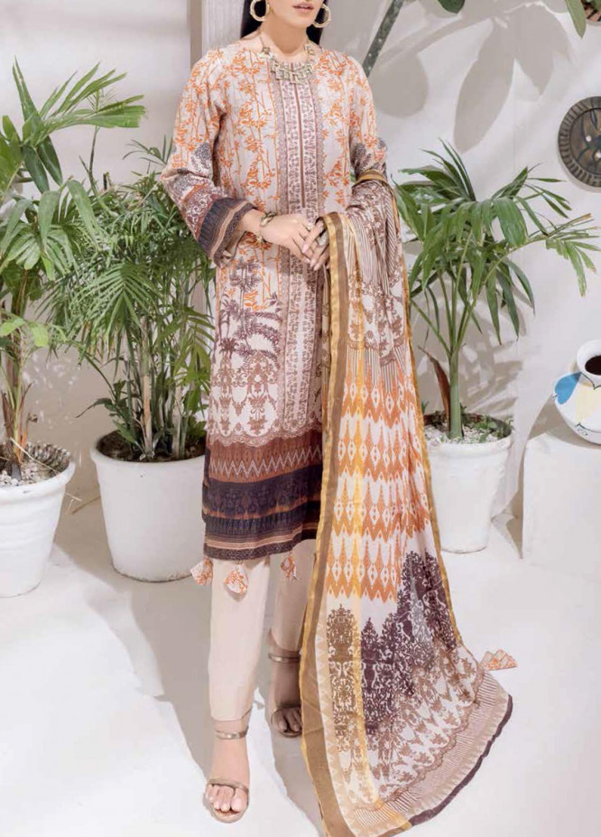 Salitex Printed Cambric Suits Unstitched 3 Piece SL21IG IP-00103B - Winter Collection