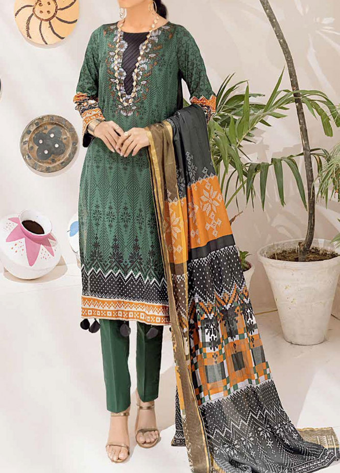 Salitex Printed Cambric Suits Unstitched 3 Piece SL21IG IP-00104A - Winter Collection